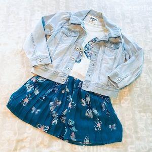 EUC girls Oshkosh light wash jean jacket